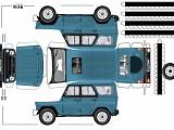 Автор схемы бумажного автомобиля - Влад Тарнавский.  Модели машин из бумаги для склеивания скачайте бесплатно от...